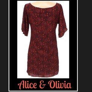 EUC* ALICE & OLIVIA A Maroon Dress